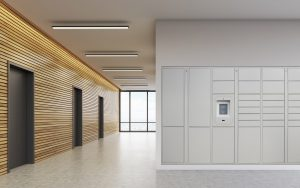 Groundfloor parcel lockers
